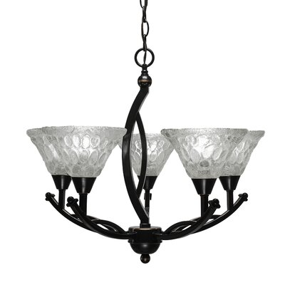 Eisenhauer 5-Light Shaded Chandelier Finish: Black Copper