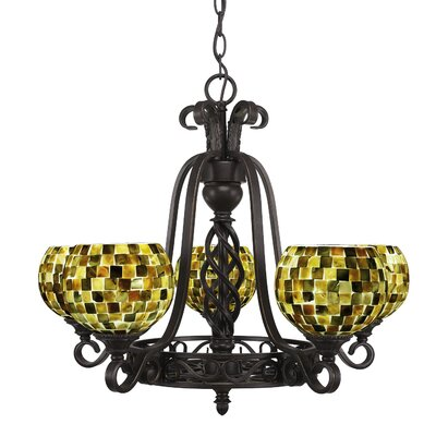 Elegant� 5-Light Shaded Chandelier Shade Color: Sea Mist