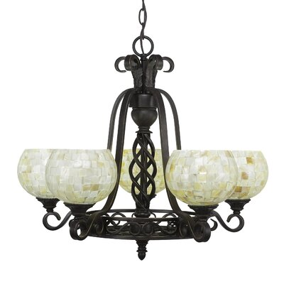 Elegant� 5-Light Shaded Chandelier Shade Color: Mystic