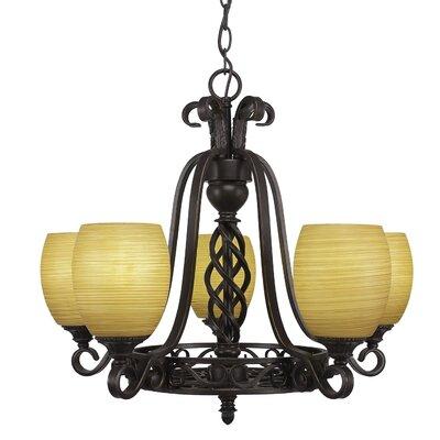 Elegant� 5-Light Shaded Chandelier Shade Color: Cayenne