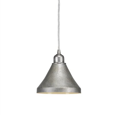 Kash 1-Light Mini Pendant Finish: Dark Granite, Size: 7 H x 7 W x 7 D