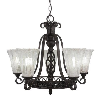 Ellesmere 5-Light Shaded Chandelier