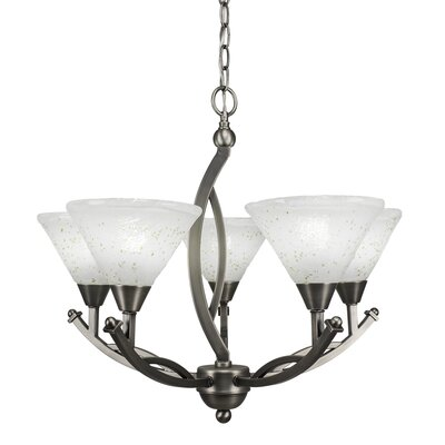 Blankenship 5-Light Brushed Nickel Shaded Chandelier