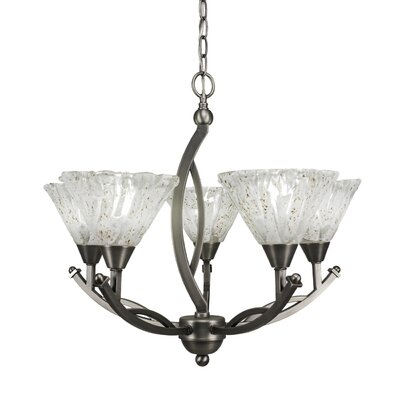 Eisenhauer 5-Light Brushed Nickel Shaded Chandelier