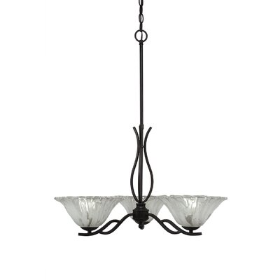 Revo 3-Light Shaded Chandelier Finish: Dark Granite