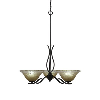 Revo 3-Light Shaded Chandelier