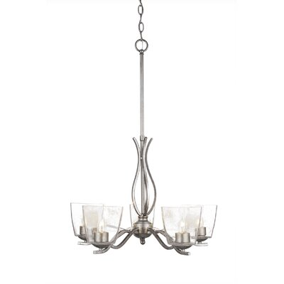 Revo 5-Light Candle-Style Chandelier Finish: Aged Silver