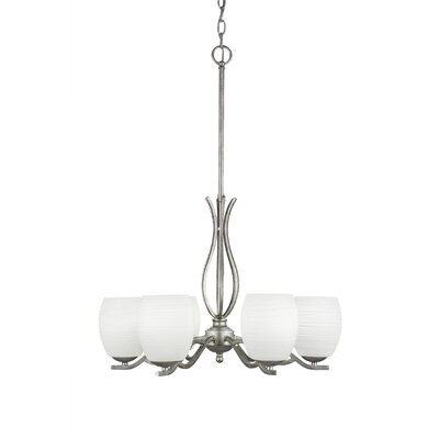 Nikolai 6-Light Shaded Chandelier Finish: Aged Silver