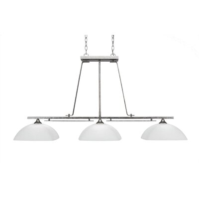 Mindi 3-Light Kitchen Island Pendant Finish: Aged Silver
