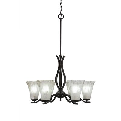 Revo 6-Light Shaded Chandelier Shade Color: Frosted