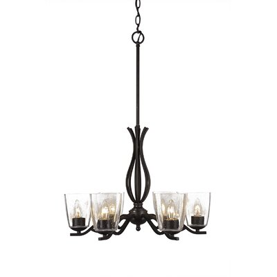 Revo 6-Light Candle-Style Chandelier Finish: Dark Granite