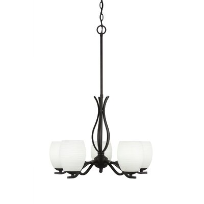 Revo 5-Light Shaded Chandelier Finish: Dark Granite