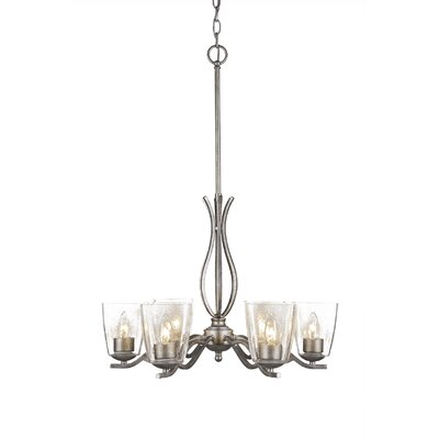 Revo 6-Light Candle-Style Chandelier Finish: Aged Silver