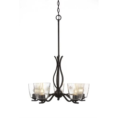 Revo 5-Light Candle-Style Chandelier Finish: Dark Granite