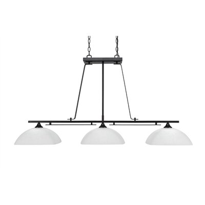 Mindi 3-Light Kitchen Island Pendant Finish: Dark Granite