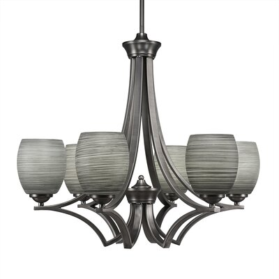 Zilo 6-Light Shaded Chandelier Finish: Graphite