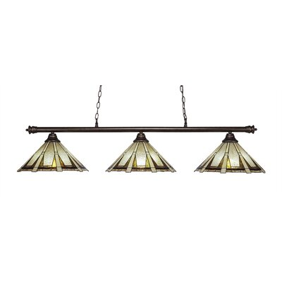 Passabe 3-Light Cone Shade Kitchen Island Pendant