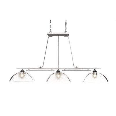 Sinclaire 3-Light Kitchen Island Pendant Finish: Aged Silver