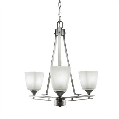 Mindi 3-Light Shaded Chandelier