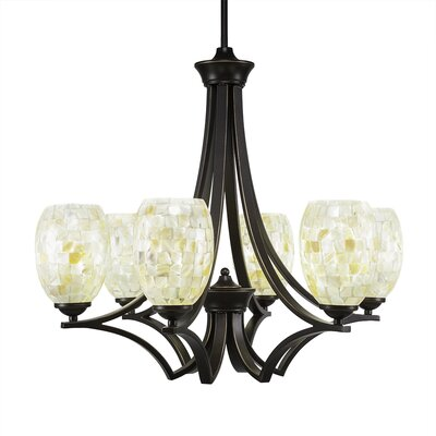 Zilo 6-Light Shaded Chandelier Finish: Dark Granite