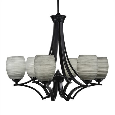 Zilo 6-Light Shaded Chandelier Finish: Matte Black