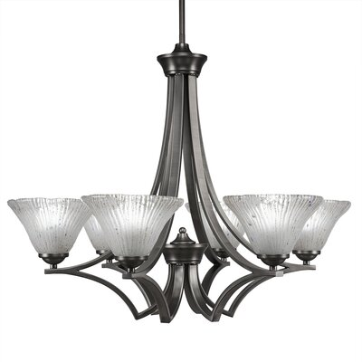 Zilo 6-Light Shaded Chandelier Finish: Graphaite
