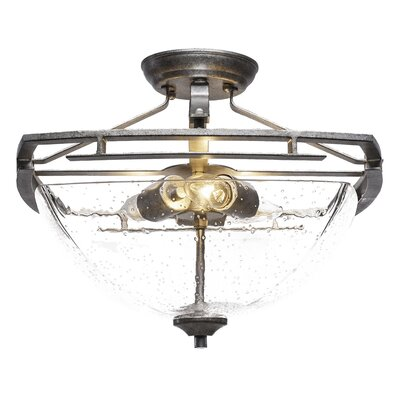 Sinclaire 3-Light Semi Flush Mount