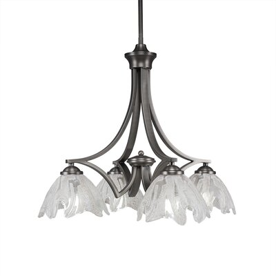 Zilo 4-Light Shaded Chandelier Finish: Graphite