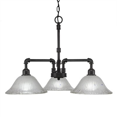 3-Light Shaded Chandelier Size: 19 H x 24.25 W x 24.25 D