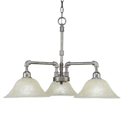 3-Light Shaded Chandelier Finish: Aged Silver