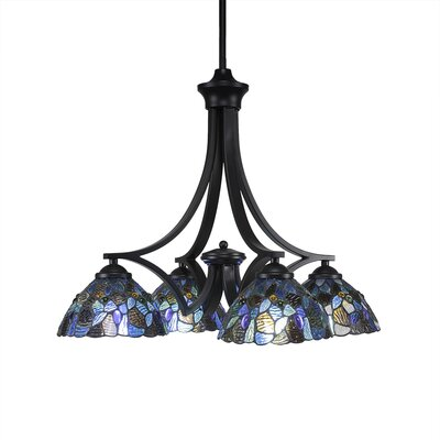 Zilo 4-Light Shaded Chandelier Finish: Matte Black