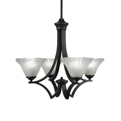 Zilo 4-Light Shaded Chandelier Finish: Dark Granite