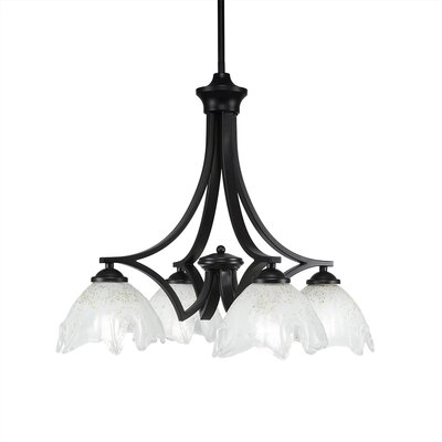 Bedolla 4-Light Shaded Chandelier Finish: Matte Black