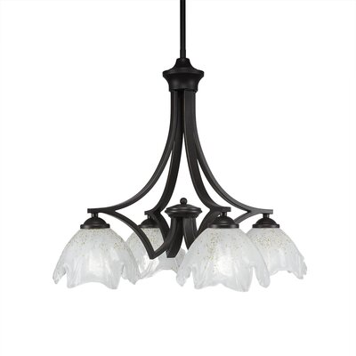 Bedolla 4-Light Shaded Chandelier Finish: Dark Granite