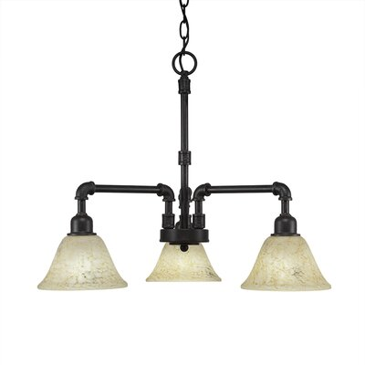 3-Light Shaded Chandelier Shade Color: Italian
