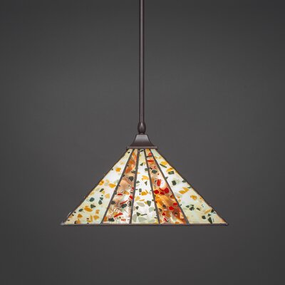 1-Light Mini Pendant Base Finish: Dark Granite