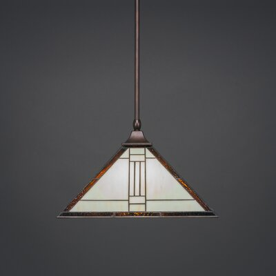 1-Light Mini Pendant Base Finish: Bronze
