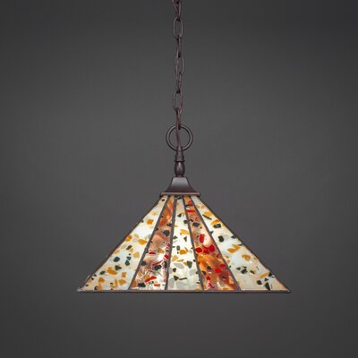 1-Light Pendant Base Finish: Dark Granite