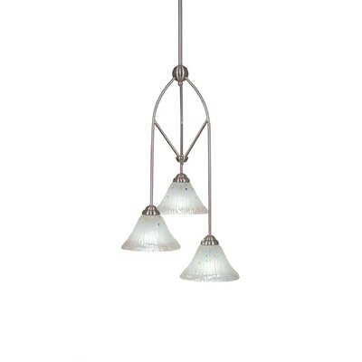 Contempo 3-Light Multi Mini Pendant With Hang Straight Swivel Shade Color: White