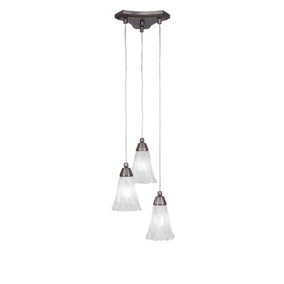 Europa 3-Light Cascade Pendant Shade Color: Italian Ice