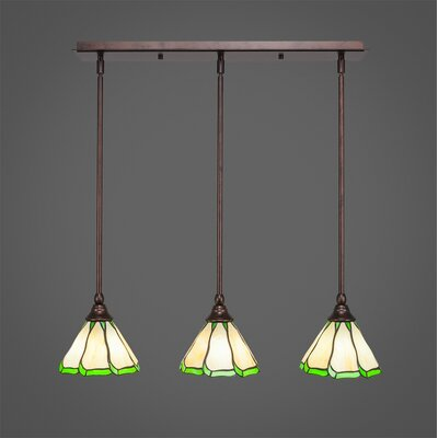 Any 3-Light Kitchen Island Pendant Finish: Bronze, Shade Color: Honey and Hunte