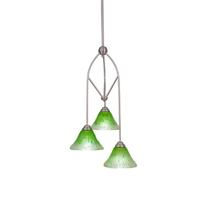 Contempo 3-Light Multi Mini Pendant With Hang Straight Swivel Shade Color: Kiwi Green