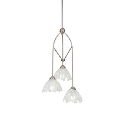 Contempo 3-Light Multi Mini Pendant With Hang Straight Swivel Shade Color: Italian Ice