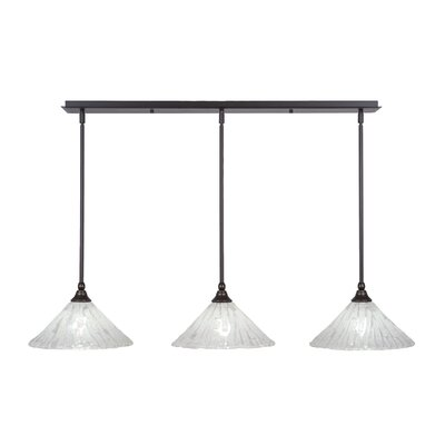 3-Light Kitchen Island Pendant Finish: Dark Granite
