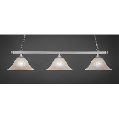 3-Light Square Kitchen Island Pendant Finish: Brushed Nickel