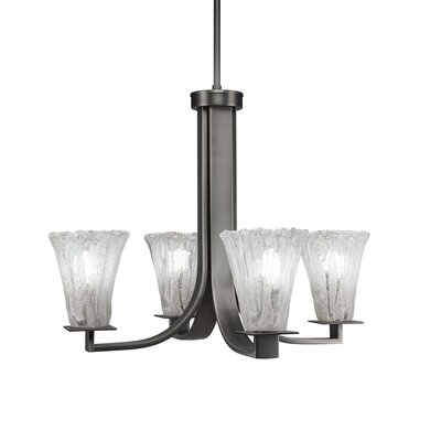Elburn 4-Light Shaded Chandelier Finish: Graphite