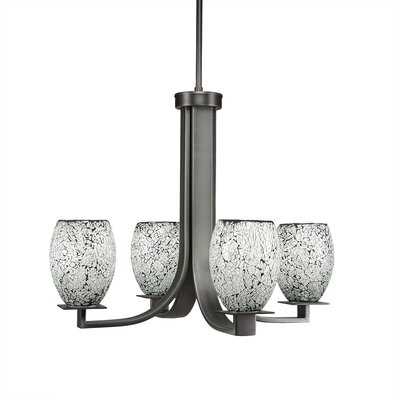 Besaw 4-Light Graphite Shaded Chandelier