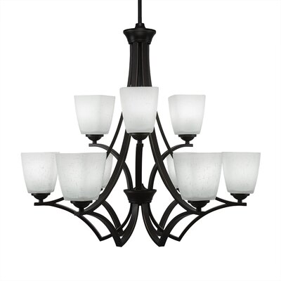 Zilo 9-Light Shaded Chandelier Finish: Dark Granite