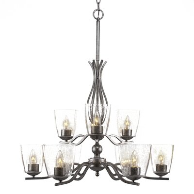 Revo 9-Light Candle-Style Chandelier