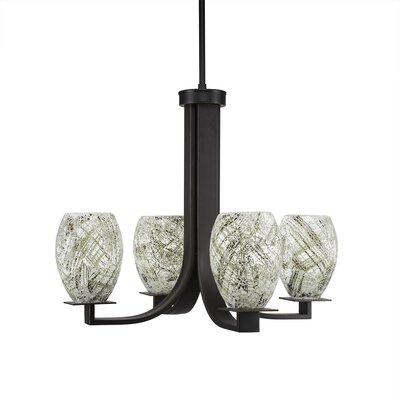 Besaw 4-Light Shaded Chandelier Finish: Dark Granite